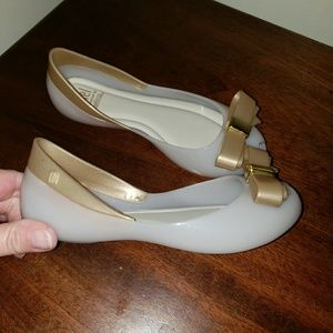 Mel Dreamed by Melissa Peep Toe Shoes size 12